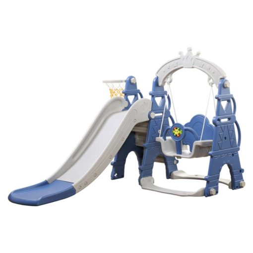 Time2Play Swing and Slide Play Gym with Music - Blue