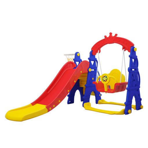 Time2Play Swing and Slide Play Gym with Music Multi Colour