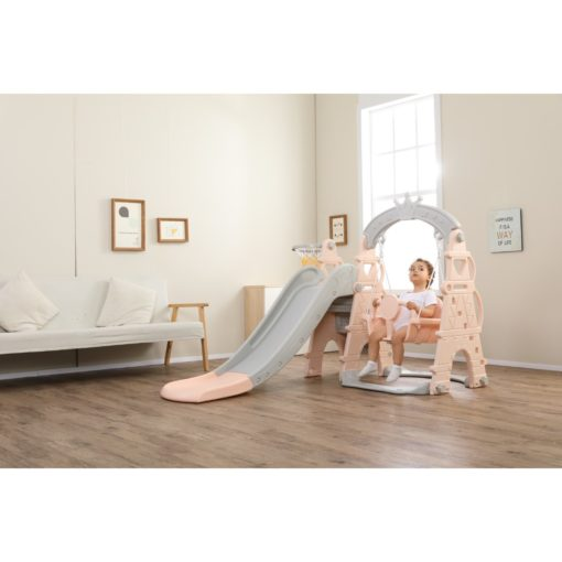 Time2Play Swing and Slide Play Gym with Music - Pink