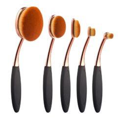 GreenLeaf Oval Makeup Brush Set, 5 Piece