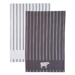 Kitchen Craft Tea Towel Set 2PC Butchers Boy