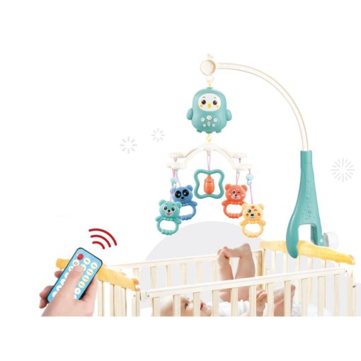 Time2Play Baby Crib Mobile with Music and Remote Orange