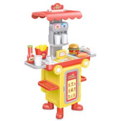 Time2Play Hamburger Fast Food Bus Set Red