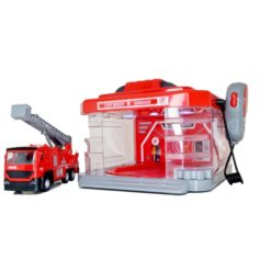 Time2Play Kids Fire Engine Car Wash Set Red