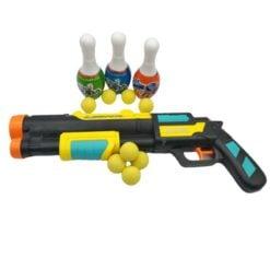 Time2Play Kids Long Barrel Water and Soft Bullet Gun Set Black