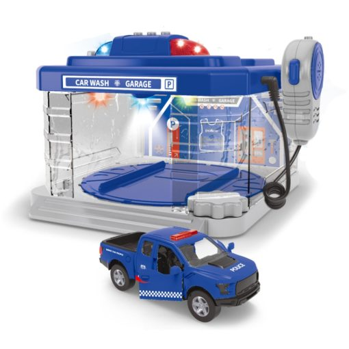 Time2Play Kids Police Car Wash Set Blue