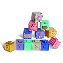 Time2Play Baby Soft Stack Squeeze Blocks Animals