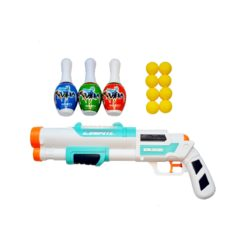 Time2Play Kids Long Barrel Water and Soft Bullet Gun Set White