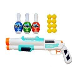 Time2Play Kids Long Barrel Water and Soft Bullet Gun Set White
