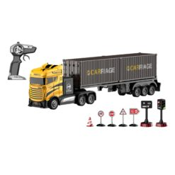 Time2Play Remote Control Cargo Truck with Road Signs