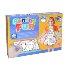 Time2Play Kids Colouring Apron and Mat Set with 12 Pens