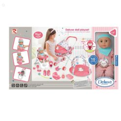 Time2Play Girls Deluxe 16-in-1 Doll Play Set