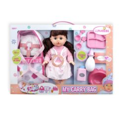 Time2Play Functional Doll Set with Carry Bag Brown Hair