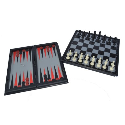 Time2Play Magnetic Chess, Checkers and Backgammon Set