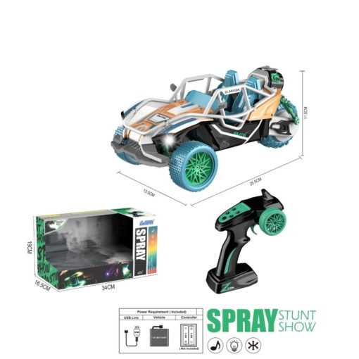 Time2Play Remote Control Buggy Car with Exhaust Spray Blue