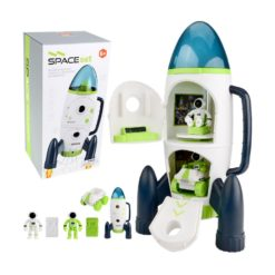 Time2Play Kids Space Rocket Play Set with Sound and Lights