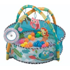 Time2Play Baby Activity Round Play Mat with Toys Blue
