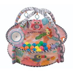 Time2Play Baby Activity Round Play Mat with Toys Pink