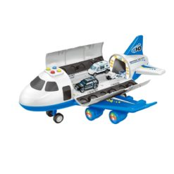 Time2Play Police Cargo Plane with 6 Vehicles Play Set
