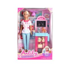 Time2Play Kids Doll and Pet Shop Set