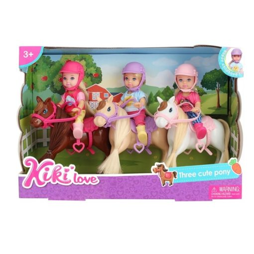 Time2Play Kids Doll and Pony Set