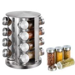 CheffyThings Stainless Steel Rotating Spice Organiser