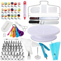 CheffyThings Cake Decorating and Accessories Set 100 Piece