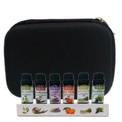 GreenLeaf Essential Oil Bundle 6 x 10ml with Case Black