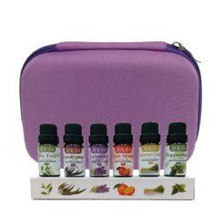 GreenLeaf Essential Oil Bundle 6 x 10ml with Case Purple