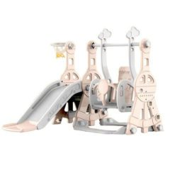 Time2Play Swing and Slide Play Set Grey and Pink