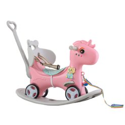 Time2Play 6-in-1 Unicorn Rocking Horse with Music Pink