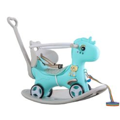 Time2Play 6-in-1 Unicorn Rocking Horse with Music Turquoise